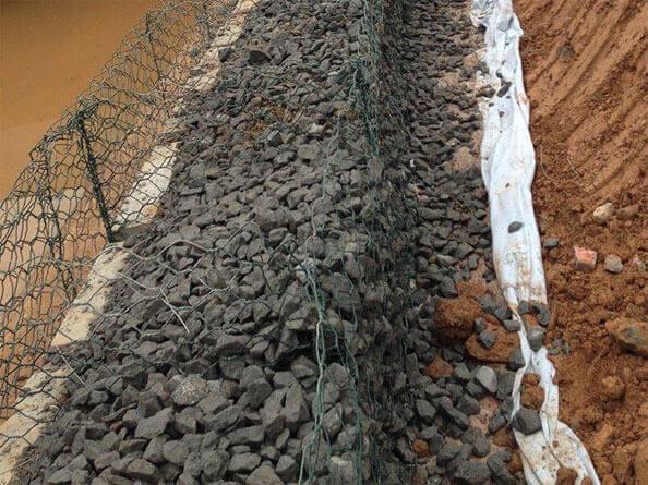 铅丝石笼网防洪,护脚